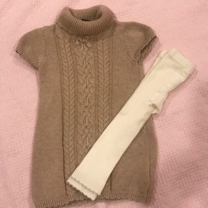 2 / $15 NWT! Baby girl sweater and leggings